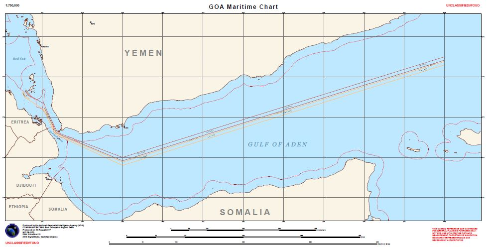 Gulf of Aden, Bab Al Mandeb, Southern Red Sea Guidance on