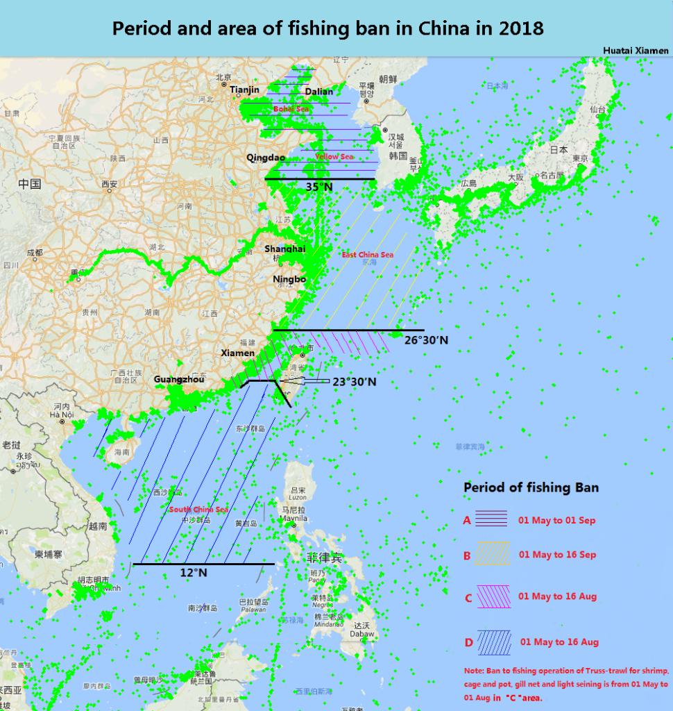 Fishing ban of China 2018